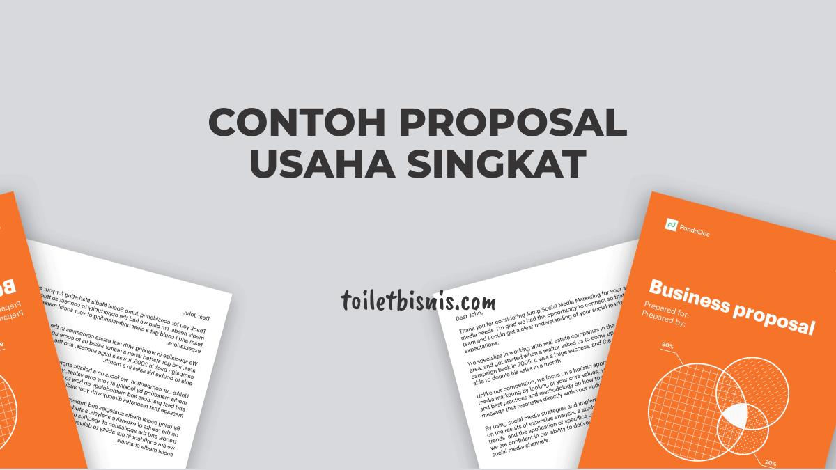 Contoh Proposal Usaha Singkat dan Lengkap