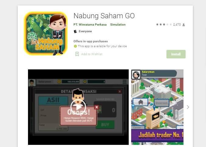 Aplikasi Saham di iPhone