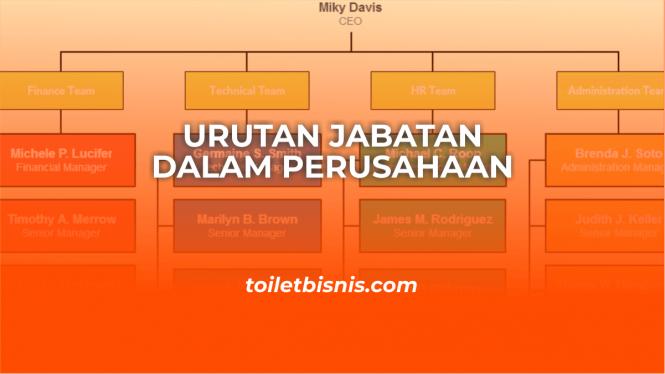 urutan jabatan dalam perusahaan